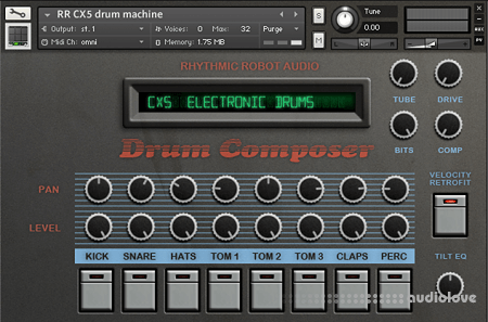 Rhythmic Robot Audio CX5 Drum Machine KONTAKT