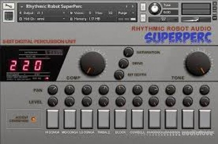 Rhythmic Robot Audio Superperc KONTAKT