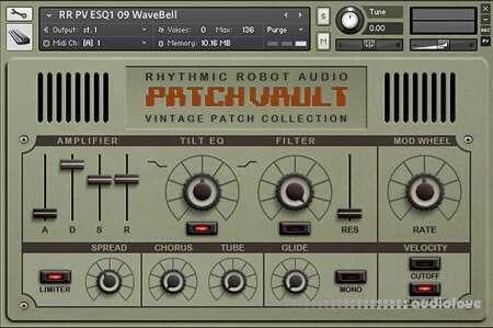 Rhythmic Robot Audio PatchVault ESQ1 KONTAKT