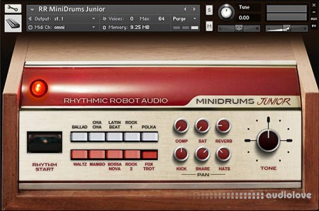 Rhythmic Robot Audio Minidrums Junior KONTAKT