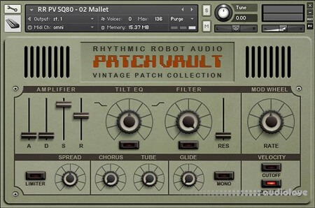 Rhythmic Robot Audio PatchVault SQ-80 Factory Set KONTAKT