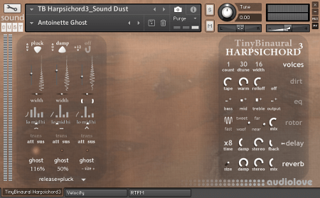 Sound Dust Tiny Binaural Harpsichord³ KONTAKT