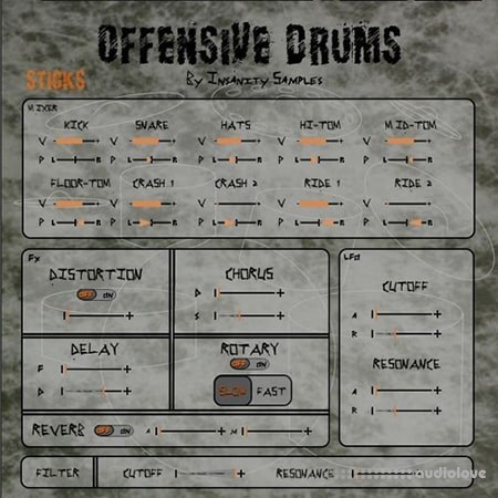 Insanity Samples Offensive Drums KONTAKT