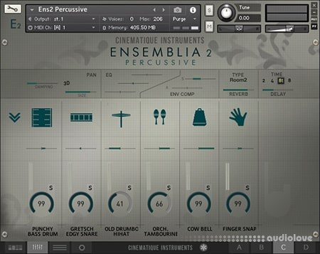 Cinematique Instruments Ensemblia 2 Percussive KONTAKT