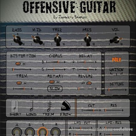 Insanity Samples Offensive Guitar KONTAKT