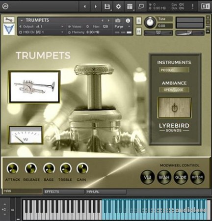 Lyrebird Sounds Trumpets KONTAKT