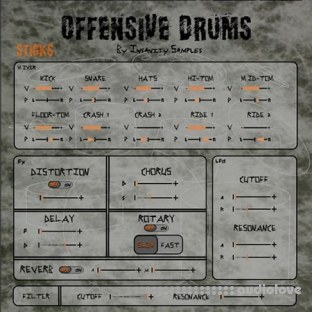 Insanity Samples Offensive Drums