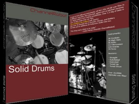 Channel Robot Solid Drums v1.0 Battery KONTAKT