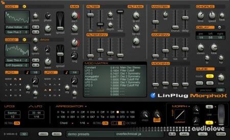 LinPlug MorphoX 1.1.0 WiN MacOSX