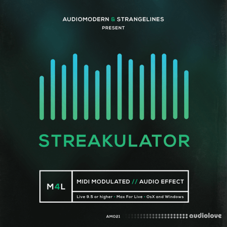 Audiomodern StrangeLines STREAKULATOR Ableton Live Max for Live