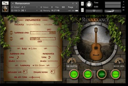 Indiginus Renaxxance Exprexxive Nylon String Guitar v1.3.2 KONTAKT