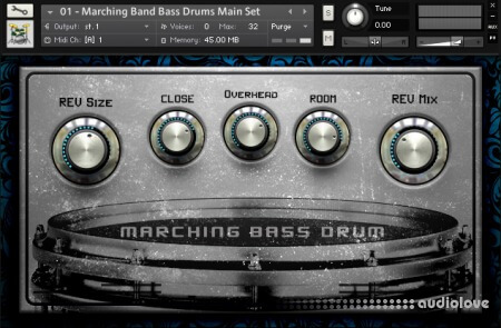 Dream Audio Tools MBD Marching Bass Drums v1.5 KONTAKT