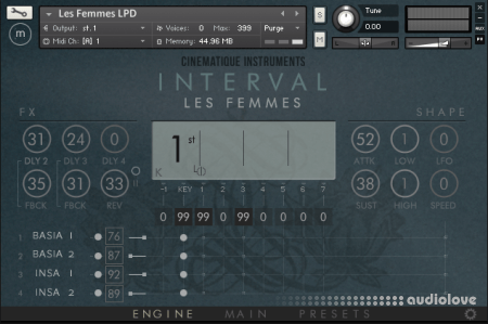 Cinematique Instruments Interval Les Femmes KONTAKT