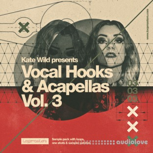 Loopmasters Kate Wild Vocal Hooks and Acapellas Vol.3
