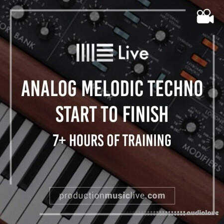 Production Music Live Analog Melodic Techno Track from Start To Finish TUTORiAL