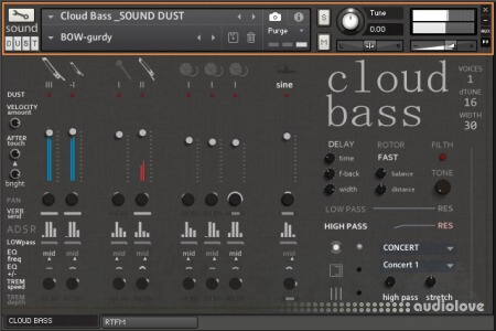Sound Dust Cloud Bass KONTAKT