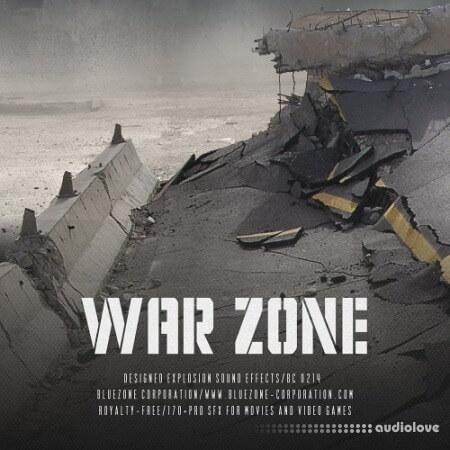 Bluezone Corporation War Zone Designed Explosion Sound Effects WAV AiFF
