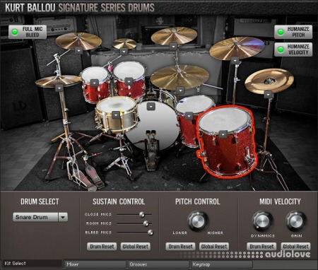 Room Sound Kurt Ballou Signature Series Drums KONTAKT
