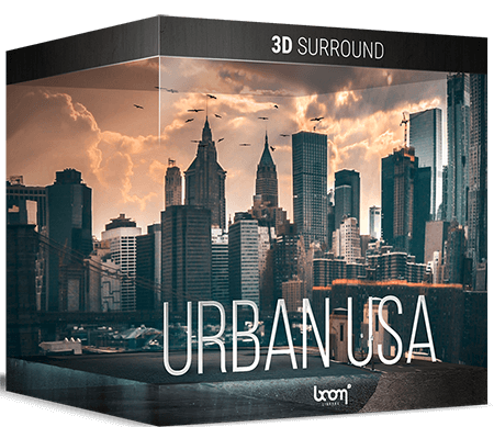Boom Library Urban USA WAV 3D Stereo Edition 3D Surround Edition