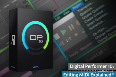 Groove3 Digital Performer 10 Editing MIDI Explained TUTORiAL
