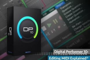 Groove3 Digital Performer 10 Editing MIDI Explained