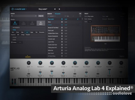 Groove3 Arturia Analog Lab 4 Explained TUTORiAL