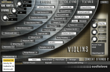 Kirk Hunter Studios Concert Strings 2 KONTAKT