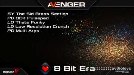 Vengeance Sound Avenger Expansion pack 8 Bit Era Synth Presets