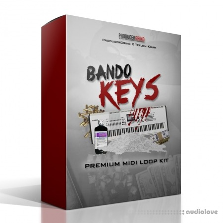 "Producer Grind THE ""Bando Keys"" PREMIUM MIDI and WAV LOOP KIT WAV MiDi"