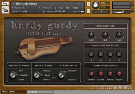 Rhythmic Robot Audio Hurdy Gurdy KONTAKT