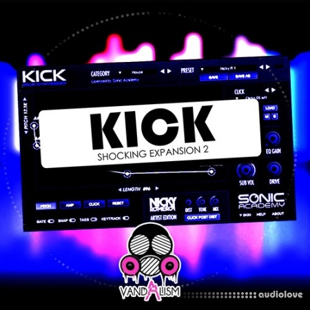 Vandalism KICK Shocking Expansion 2 WAV AiFF Synth Presets