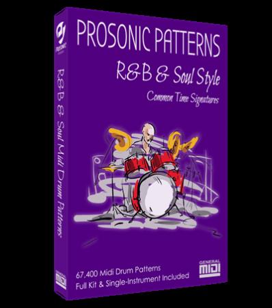 Prosonic Studios Midi Grooves R&B and Soul Drum Library MiDi