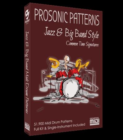 Prosonic Studios Midi Grooves Jazz and Big Band Drum Library