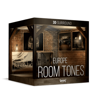 Boom Library Room Tones Europe Stereo Edition and  3D  Surround Edition