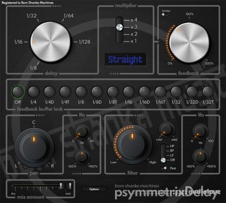 Bom Shanka Machines psymmetrixDelay v1.2.4 MacOSX