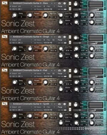 Sonic Zest Ambient Cinematic Guitar 4 KONTAKT