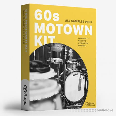 DrumDrops 60s Motown Kit: All Samples Pack MULTiFORMAT