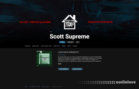 Scott Supreme LOUD PACK Drum Kit WAV MiDi