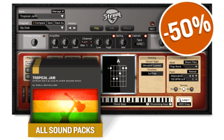 Applied Acoustics Systems Tropical Jam Strum GS-2 Soundpack Synth Presets