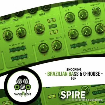 Vandalism Shocking Brazilian Bass and G-House For Spire Synth Presets