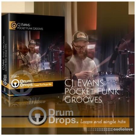 DrumDrops CJ Evans Pocket Funk Vol.1 Loops and Hits Pack WAV