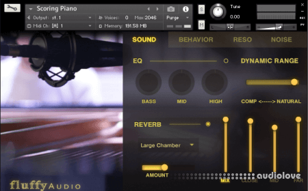 Fluffy Audio Scoring Piano KONTAKT