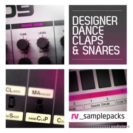 RV samplepacks Designer Dance Claps Snares and Stax WAV