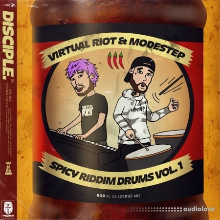 Disciple Samples Virtual Riot x Modestep Spicy Riddim Drums Vol.1