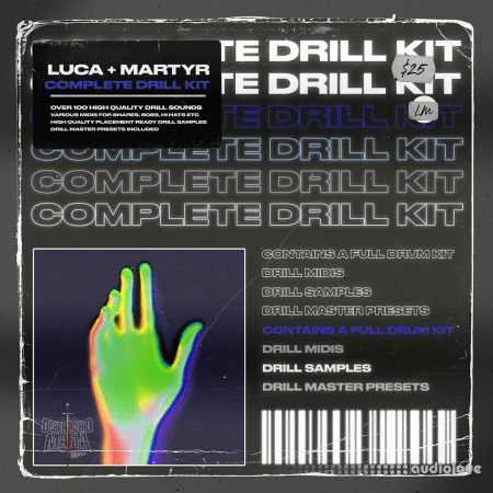 Overlord Mafia Luca + Martyr Complete Drill Kit WAV MiDi DAW Templates