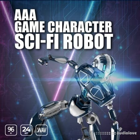 Epic Stock Media AAA Game Character Sci Fi Robot