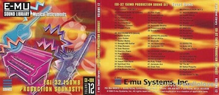 E-MU Classic Series Vol.12 ESI-32 150MB Production Soundset