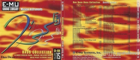 E-MU Classic Series Vol.15 Dan Dean Bass Collection