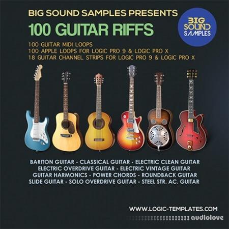 Big Sound Samples 100 Guitar Riffs AiFF MiDi