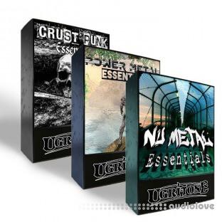 Ugritone Crust Punk + Power Metal + Nu Metal Essentials MIDI Packs Bundle